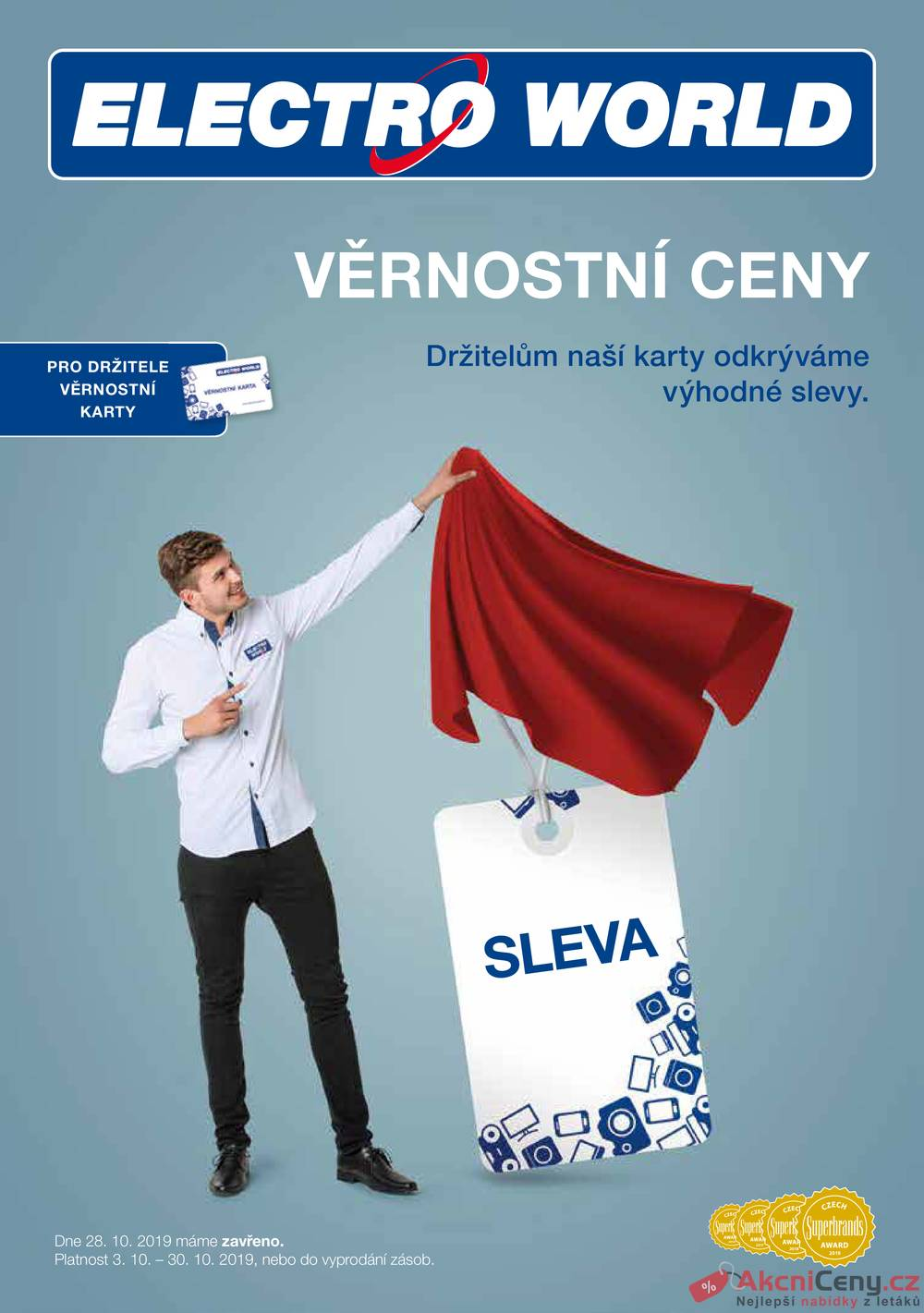 Leták Electro World - Electro World  od 3.10. do 30.10.2019 - strana 1