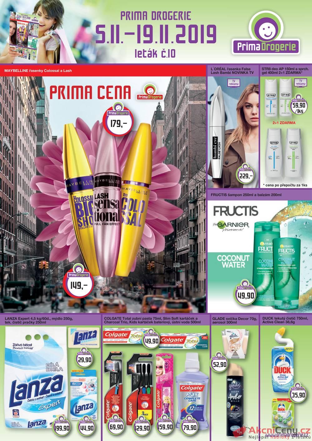 Leták Prima Drogerie - Prima drogerie  od 5.11. do 19.11.2019 - strana 1