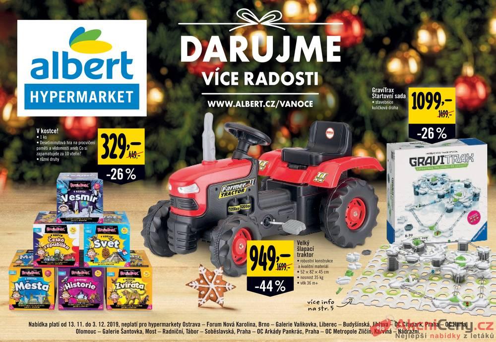 Albert Hypermarket katalog Hračky od 13.11. do 3.12.2019