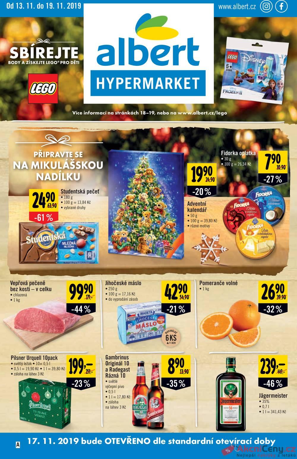 Albert  Hypermarket od 13.11. do 19.11.2019