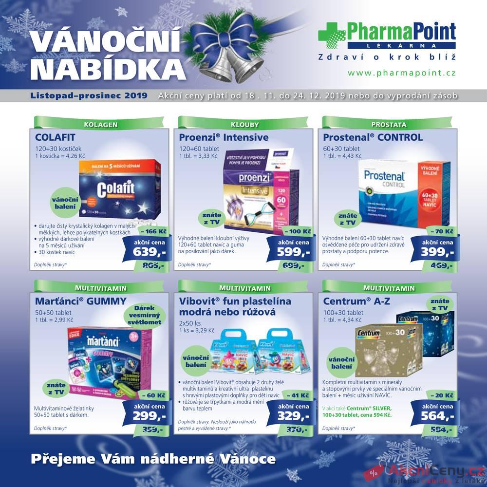 Leták PharmaPoint  - Pharma Point od 18.11. do 24.12.2019 - strana 1