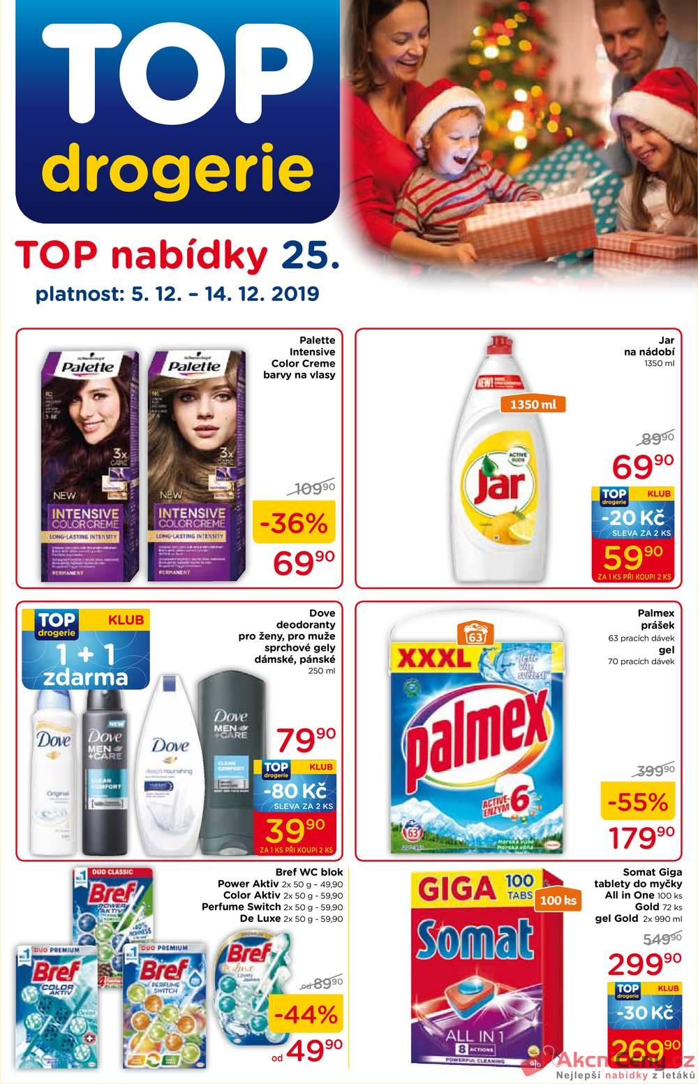 Leták TOP drogerie - TOP drogerie  od 5.12. do 14.12.2019 - strana 1