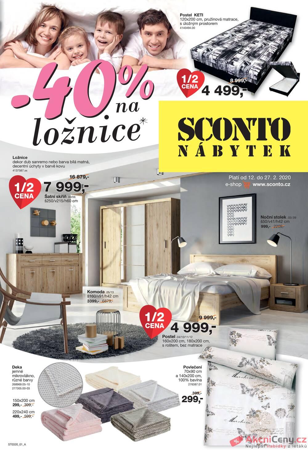 Leták Sconto nábytek - Sconto nábytek od 12.2. do 27.2.2020 - strana 1
