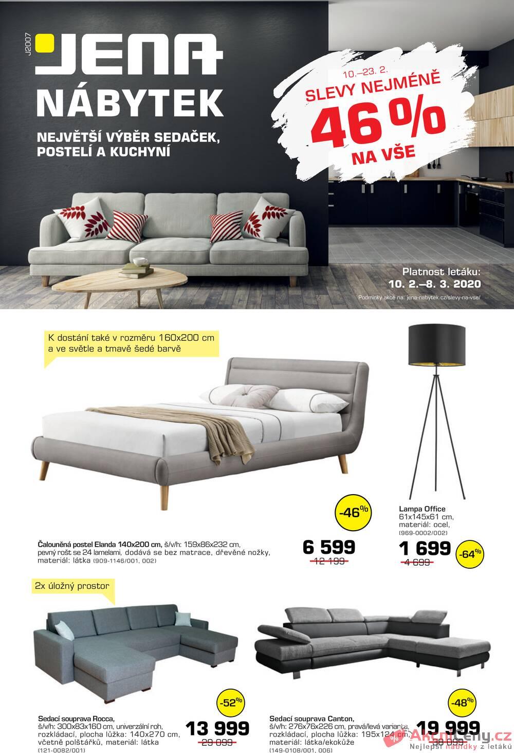 Leták JENA-NÁBYTEK - JENA-nábytek od 10.2. do 8.3.2020 - strana 1