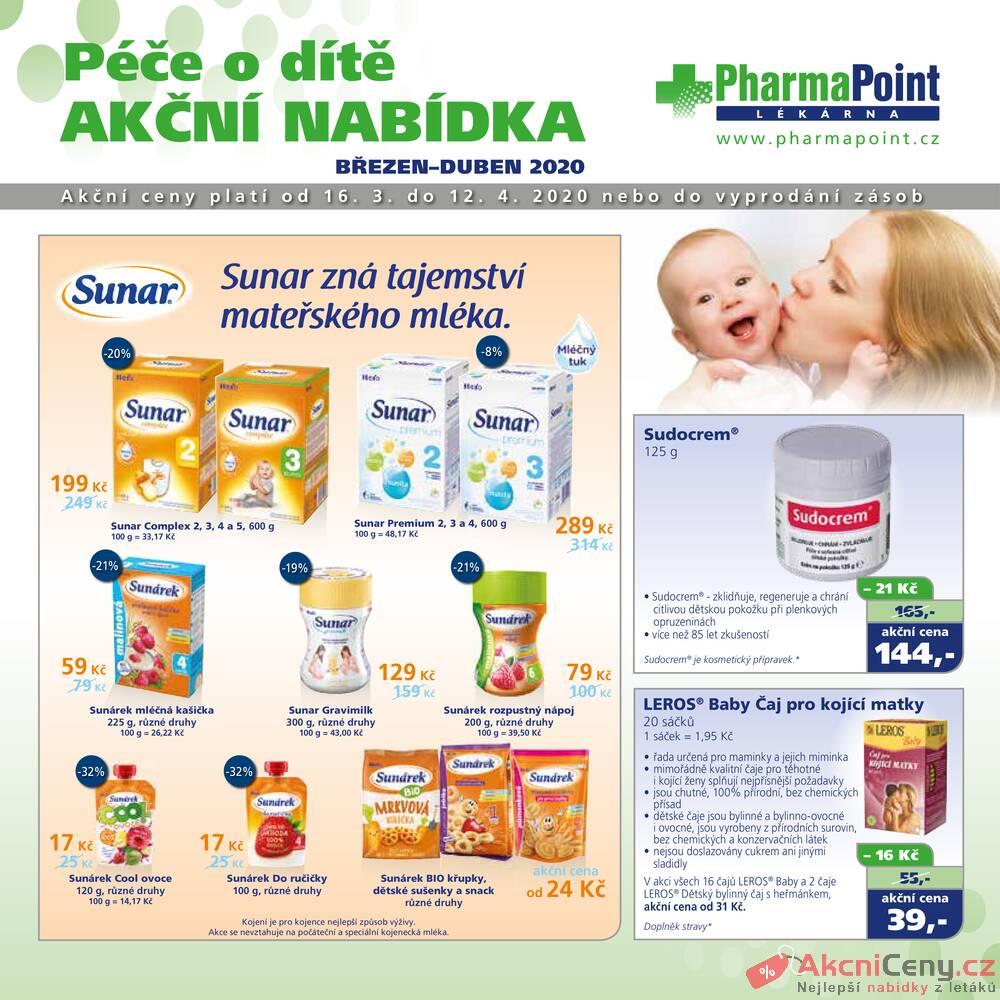Leták PharmaPoint  - Pharma Point typ A od 16.3. do 12.4.2020 - strana 1
