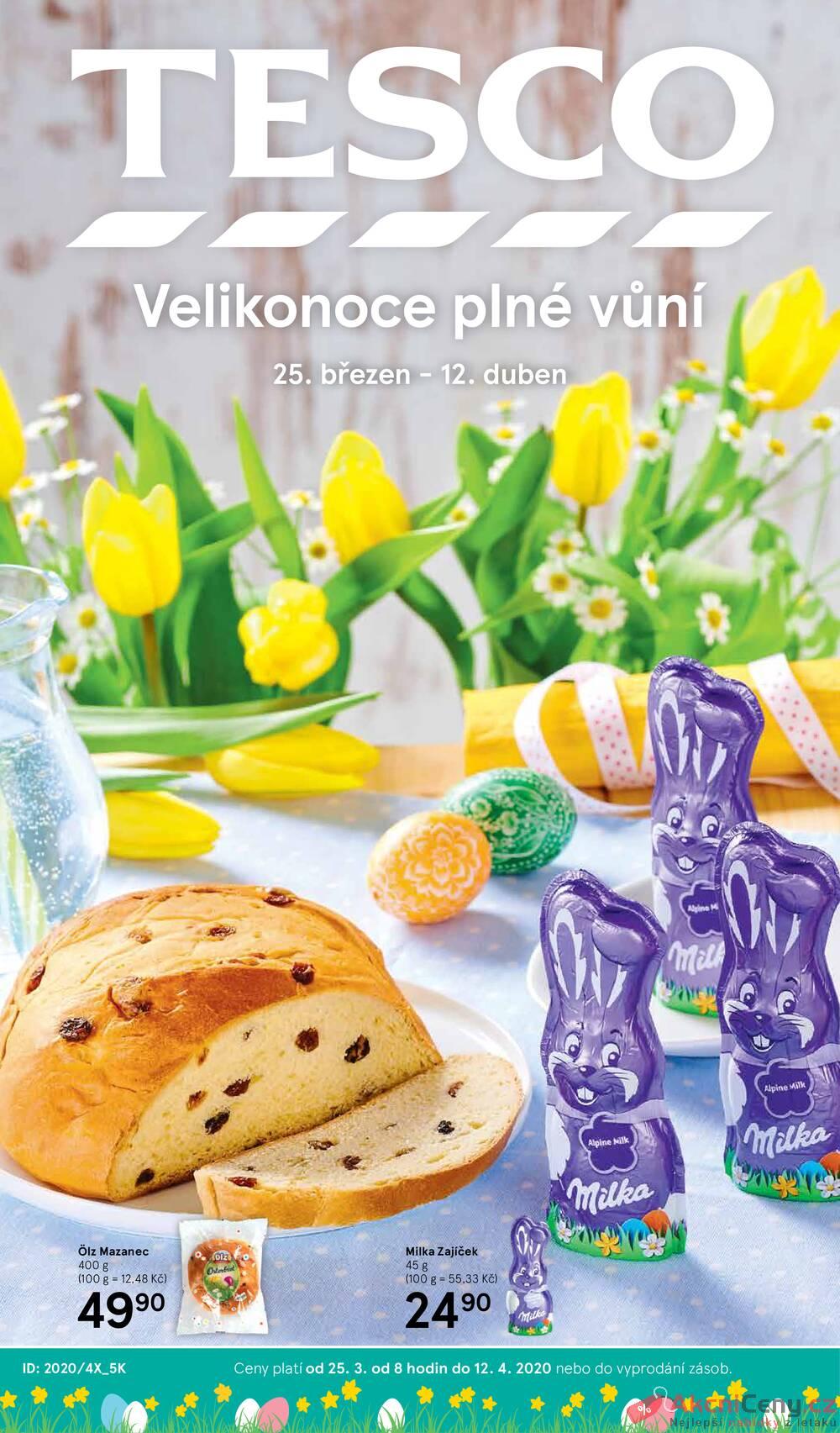 Tesco malé hypermarkety katalog Velikonoce od 25.3. do 12.4.2020