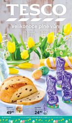 Leták Tesco malé hypermarkety katalog Velikonoce od 25.3. do 12.4.2020