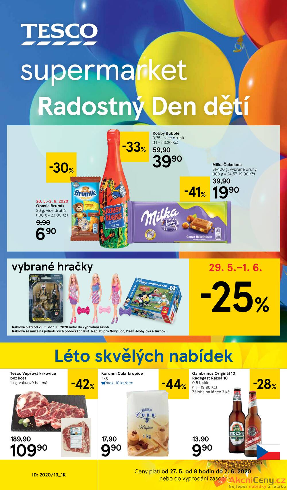 Leták Tesco - Tesco supermarkety od 27.5. do 2.6.2020 - strana 1