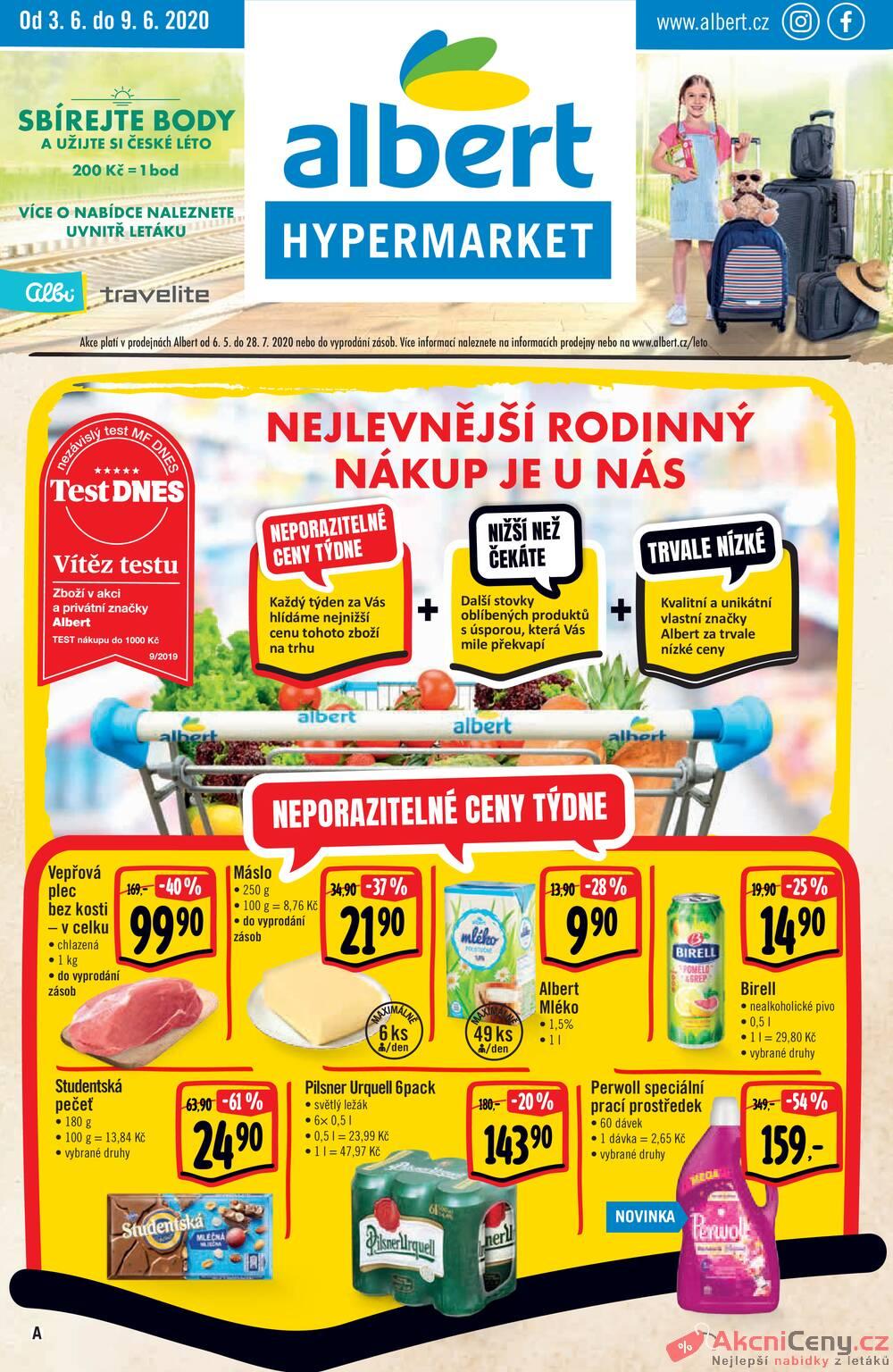 Albert  Hypermarket od 3.6. do 9.6.2020