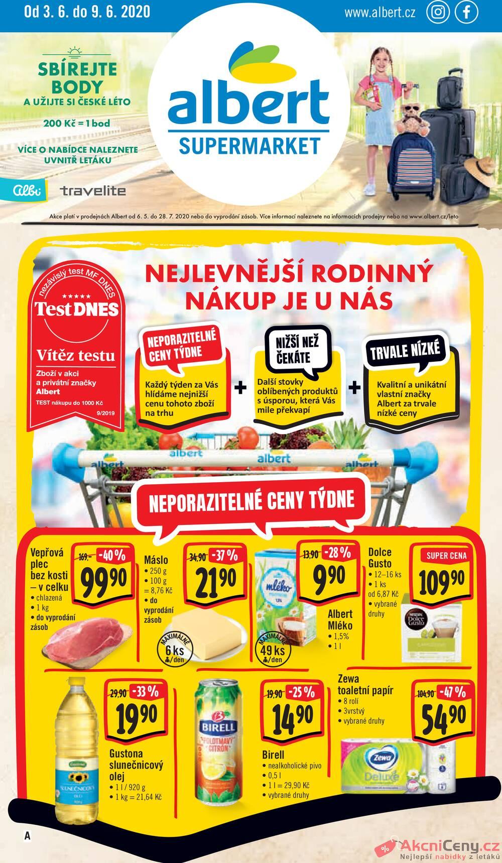 Albert Supermarket od 3.6. do 9.6.2020