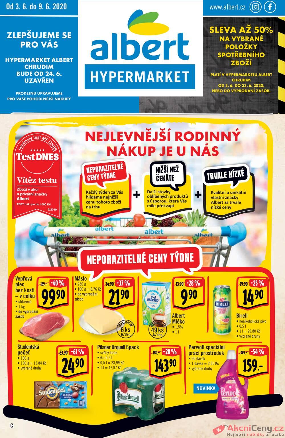 Albert Hypermarket 3.6. - 9.6. Chrudim