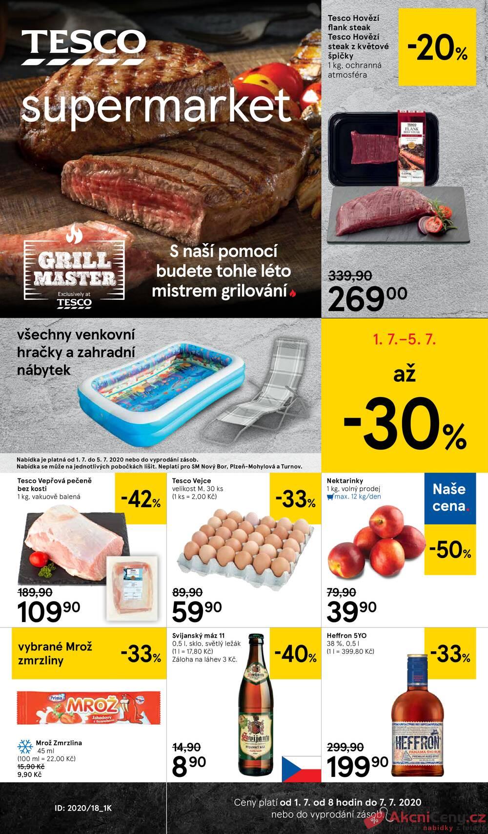 Leták Tesco - Tesco supermarkety od 1.7. do 7.7.2020 - strana 1