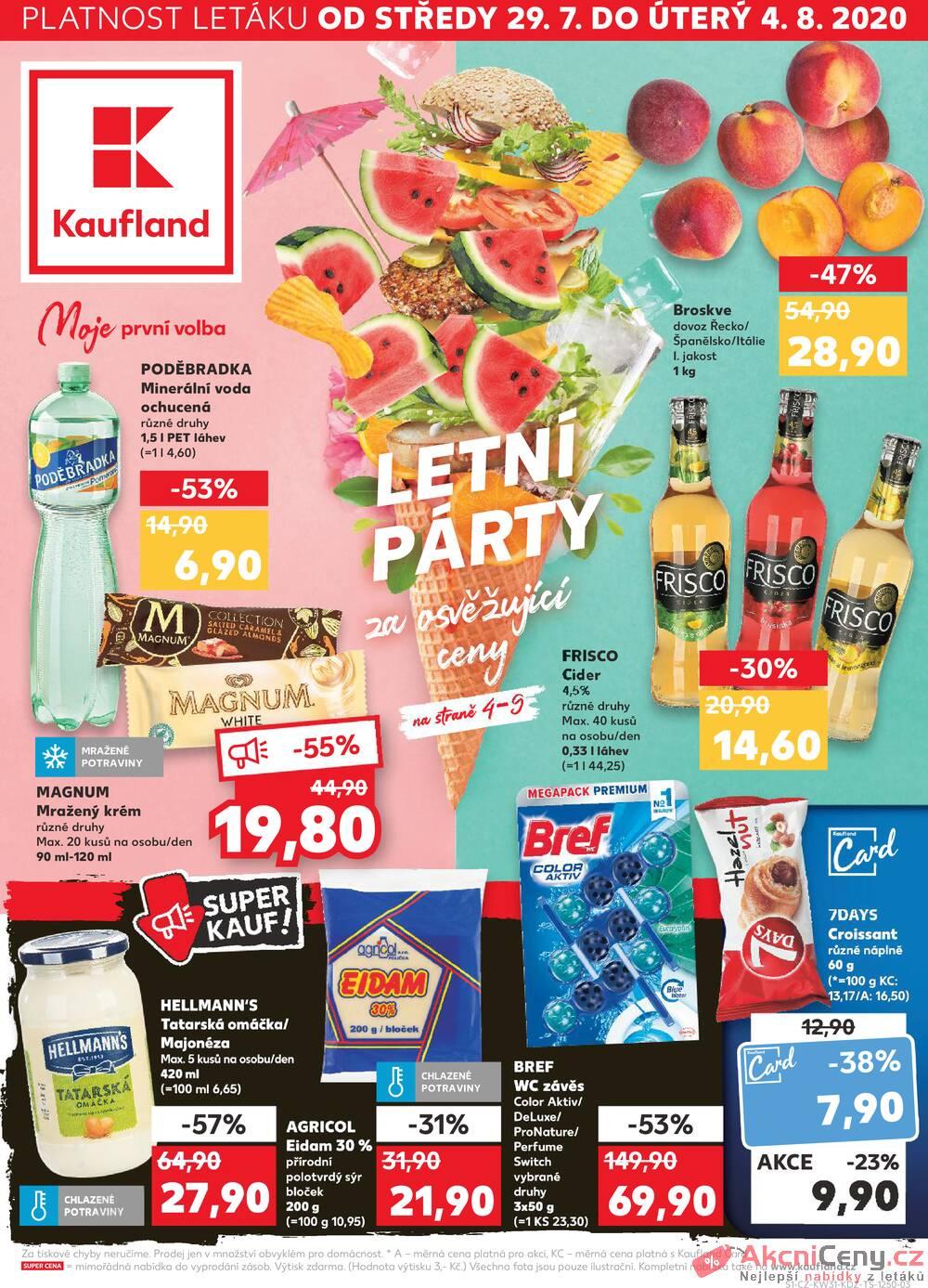 Leták Kaufland - Kaufland 29.7. - 4.8. - Kaufland - Ostrava - Zábřeh - strana 1