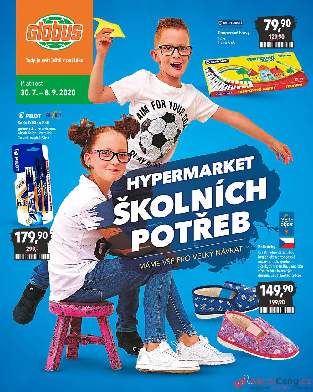 Leták Globus - Globus Brno všechny pobočky 30.7. - 9.9. - strana 1