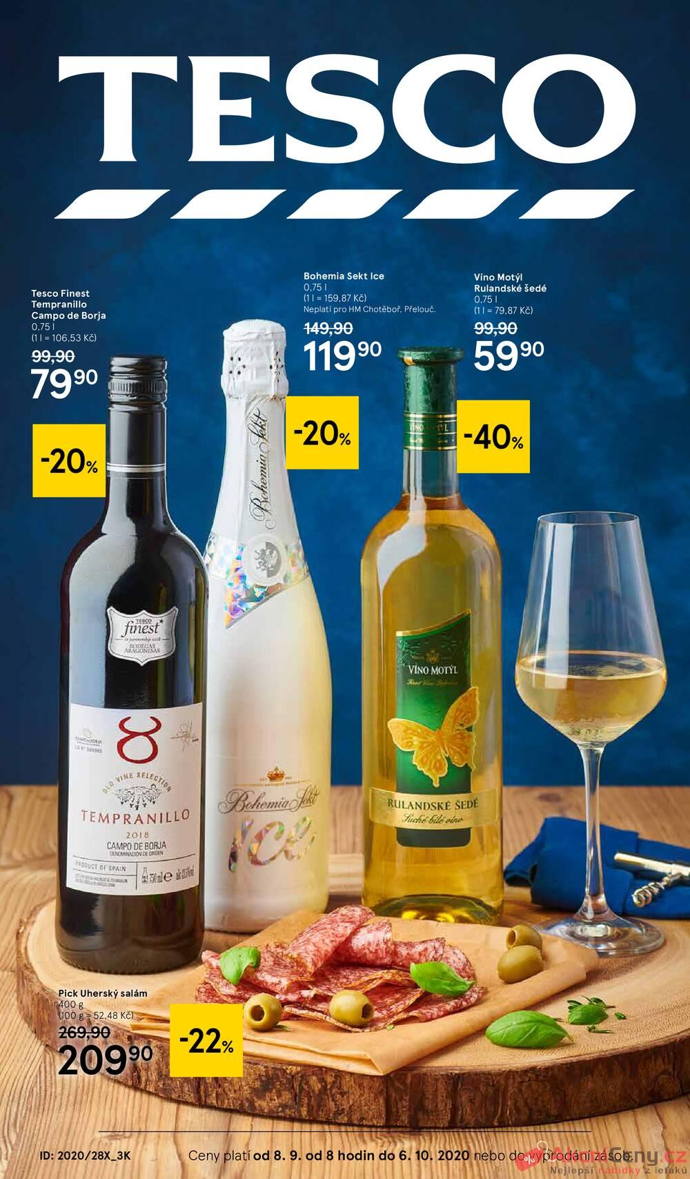 Tesco malé hypermarkety katalog Víno od 8.9. do 6.10.2020