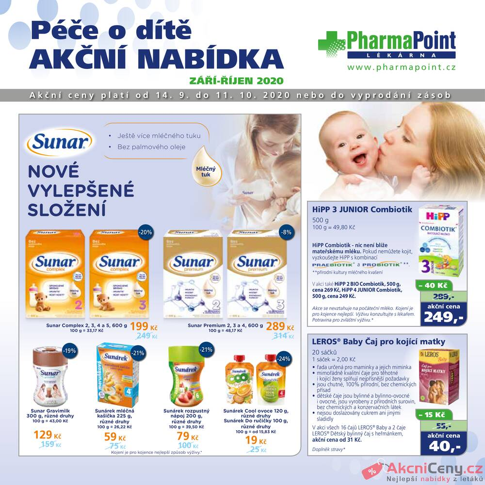 Leták PharmaPoint  - Pharma Point typ A od 14.9. do 11.10.2020 - strana 1