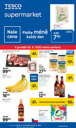 Leták Tesco supermarkety od 23.9. do 29.9.2020