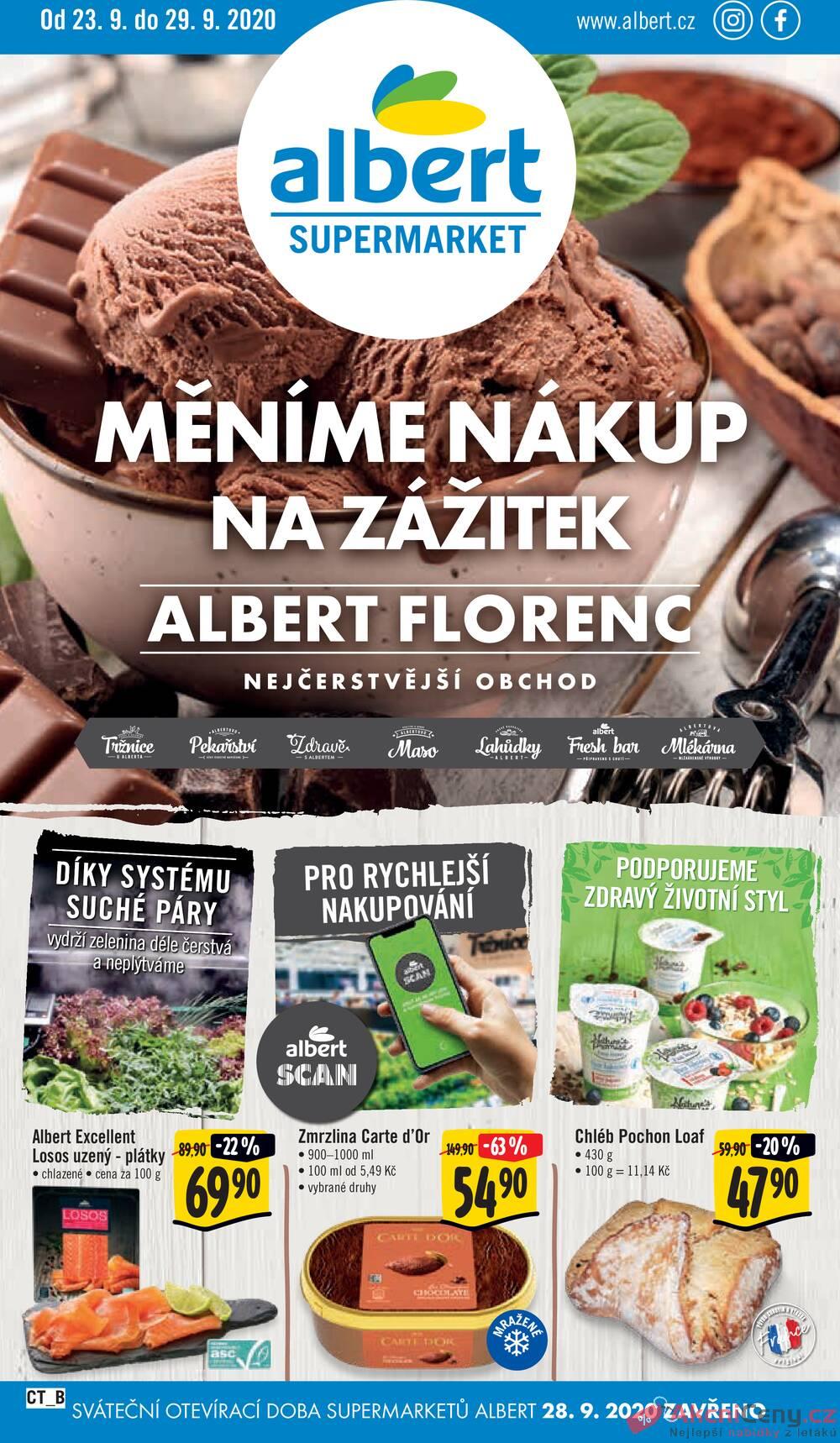 Albert Supermarket CITY FLorenc od 23.9. do 29.9.2020