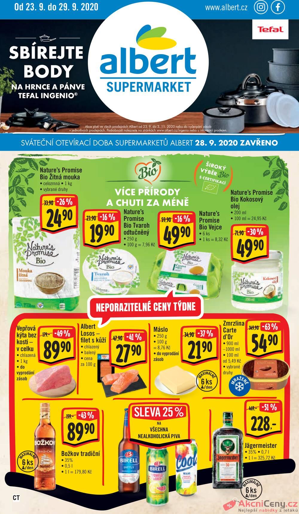 Albert Supermarket CITY od 23.9. do 29.9.2020