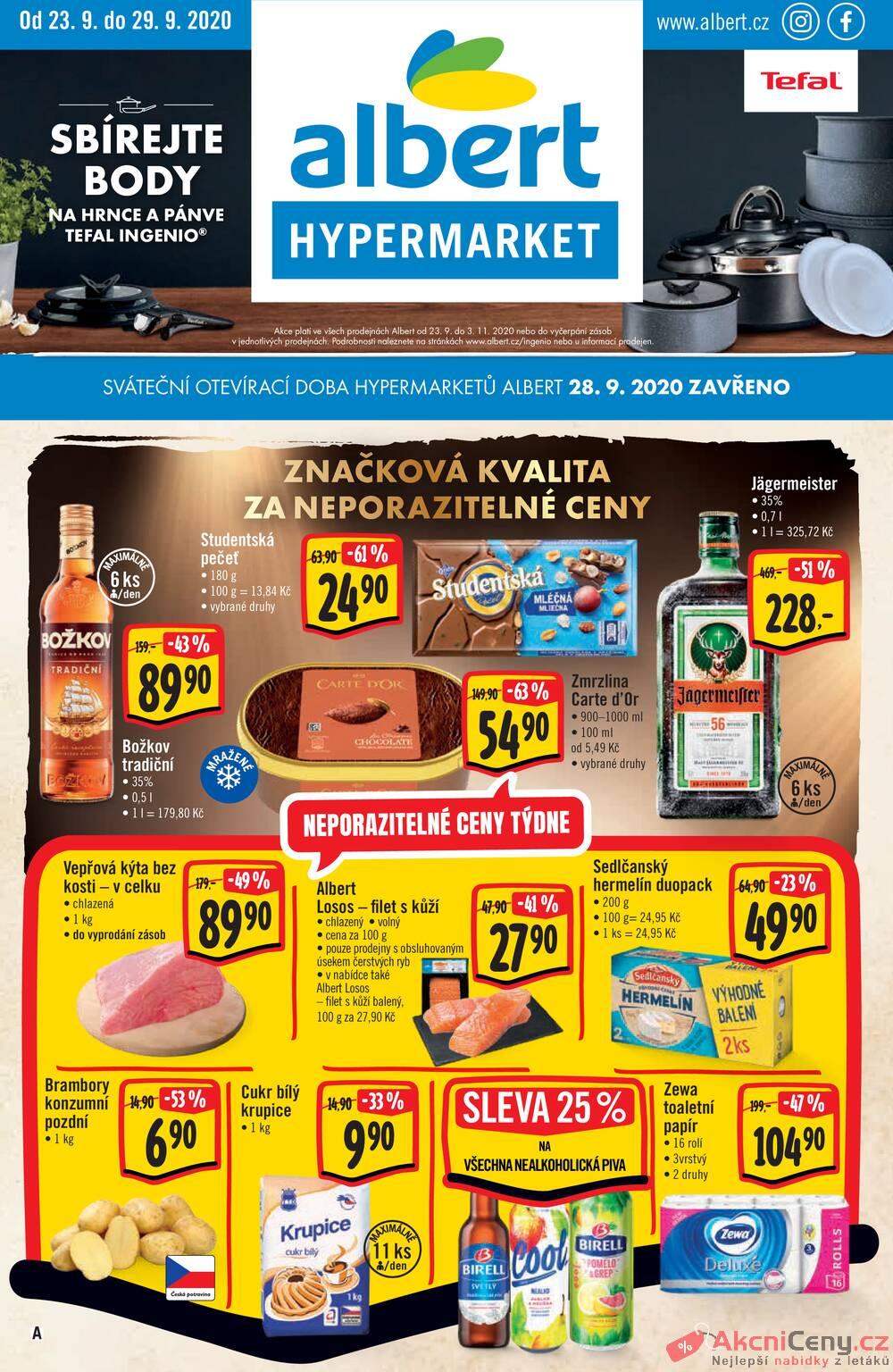 Albert  Hypermarket od 23.9. do 29.9.2020