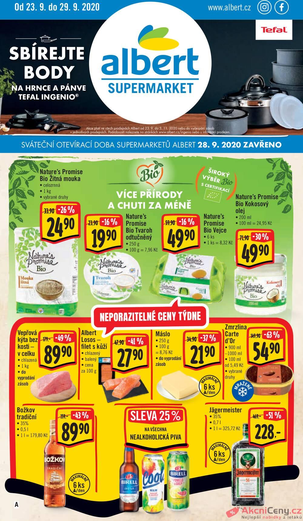 Albert Supermarket od 23.9. do 29.9.2020