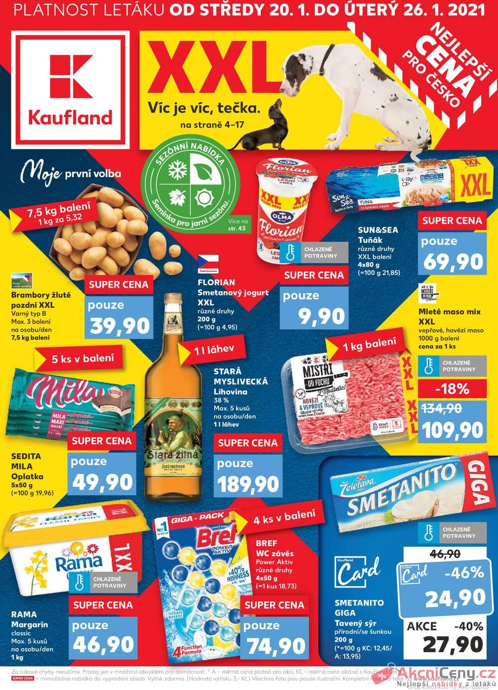 Kaufland 20.1. - 26.1. - Kaufland - Praha - Hloubětín