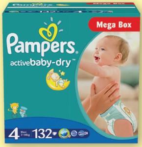 Pampers Megapack dětské plenky Tesco