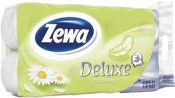 Zewa Deluxe toaletní papír 3-vrstvý 8 rolí, vybrané druhy Globus