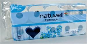 toaletní papír Natuvell (10 kusů)