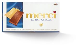 Merci čokoláda 100g, vybrané druhy
