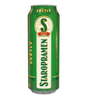 Staropramen Světlý, výčepní pivo (plechovka)