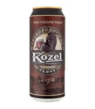 Velkopopovický Kozel Černý, tmavé výčepní pivo (plechovka) 0,5l