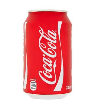 Coca-Cola 0,33l (plechovka), vybrané druhy