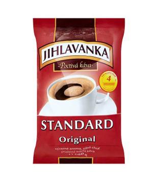 Jihlavanka Standard pražená mletá káva 500g, vybrané druhy v akci