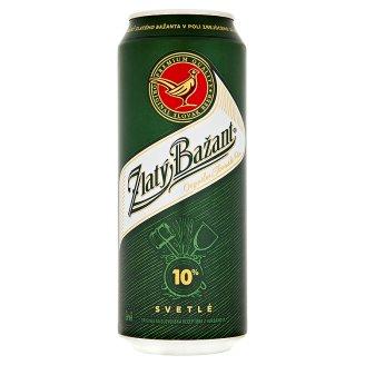 Zlatý bažant, světlé pivo (plechovka)