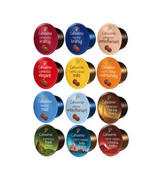 Tchibo Cafissimo kávové kapsle, různé druhy (10 kapslí)