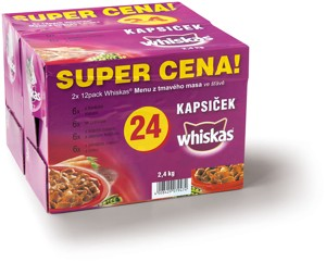 Whiskas kapsičky pro kočky, 24× 100 g, vybrané druhy