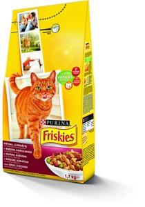 Friskies granule pro kočky, vybrané druhy