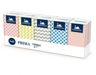 Harmony papírové kapesníčky, 10×10 ks, 3-vrstvé Terno