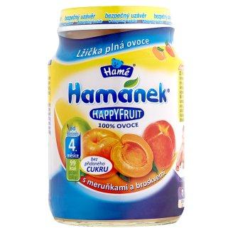 Hamánek Happy fruit kojenecká výživa 190g, vybrané druhy Globus