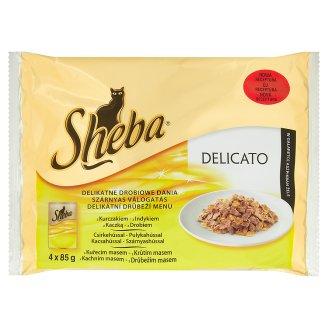 Sheba  krmivo pro dospělé kočky 4x85g, vybrané druhy