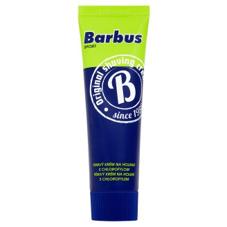 Barbus Sport pěnivý krém na holení s chlorofylem TOP drogerie