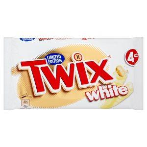 Twix White sušenka s karamelem máčená v bílé čokoládě 4 x 2 x 23g