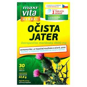MaxiVita Herbal Očista jater 30 tablet 22,8g Teta drogerie