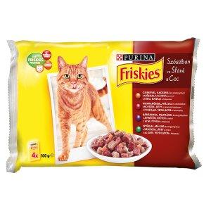 FRISKIES multipack kapsiček pro kočky - výběr ve šťávě 4 x 100g