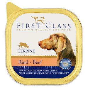 First Class Kompletní krmivo pro psy - paštika s hovězím 300g