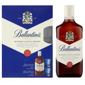 Ballantine's Finest Skotská whisky 70cl + 2x sklenička
