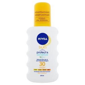 Nivea Sun Protect & Sensitive Sprej na opalování OF 30 200ml dm drogerie markt