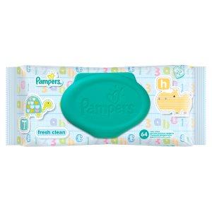 Pampers Fresh Clean čisticí ubrousky 64 ks Terno