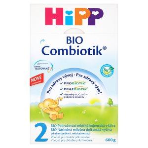 HiPP 2 BIO combiotik pokračovací mléčná od ukončeného 6. měsíce 600g Albert